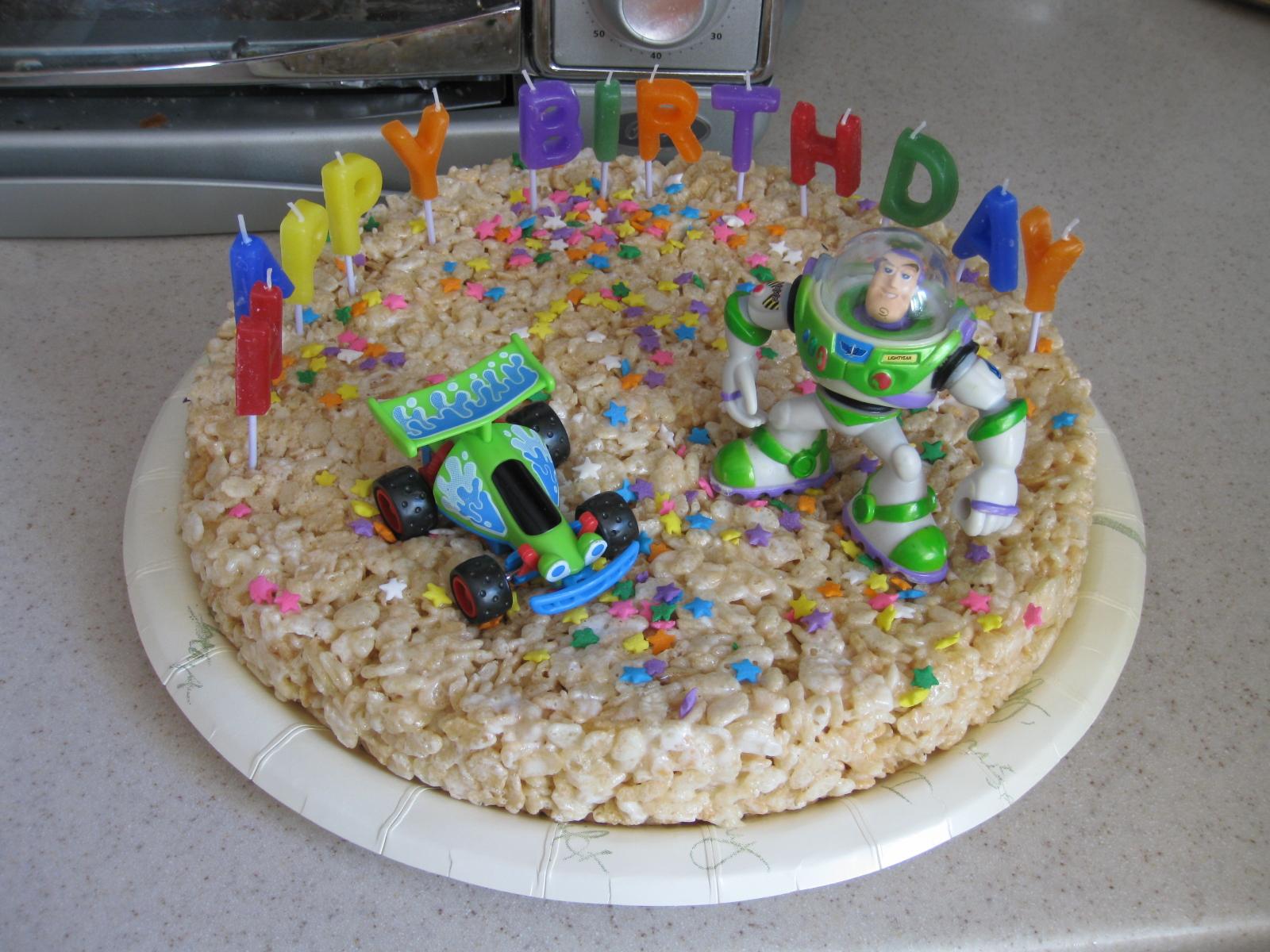 Kalifornia Love Rice Krispies Treats Birthday Cakes
