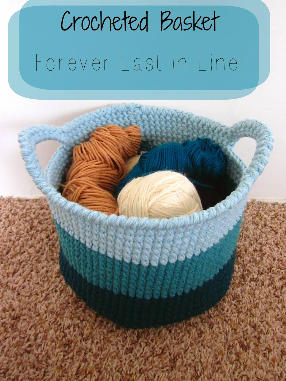 Blue Ombre Basket