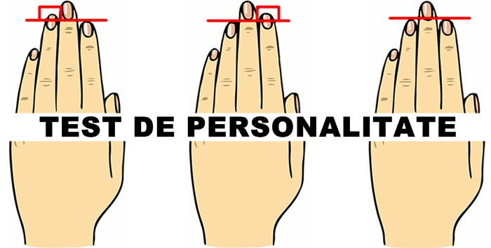 test de personalitate degete lungime