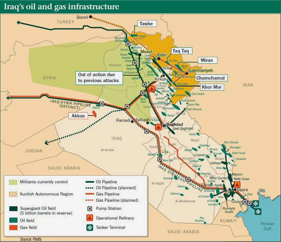 Iraq Oil Military Conflicts Map