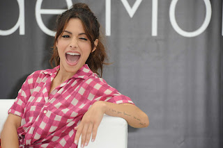 Sarah Shahi winks at cameras at 52nd Monte Carlo TV Festival