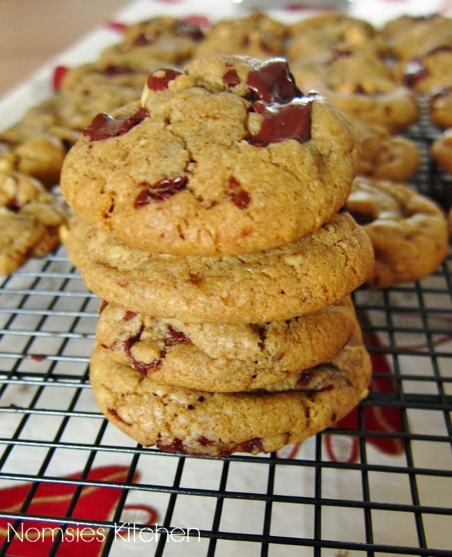 Nomsies Kitchen | Chewy Chocolate Chunk Cookies with Hazelnuts