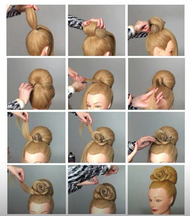 Cute Volume Rose Bun Step By Step Tutorial ~ Entertainment ...