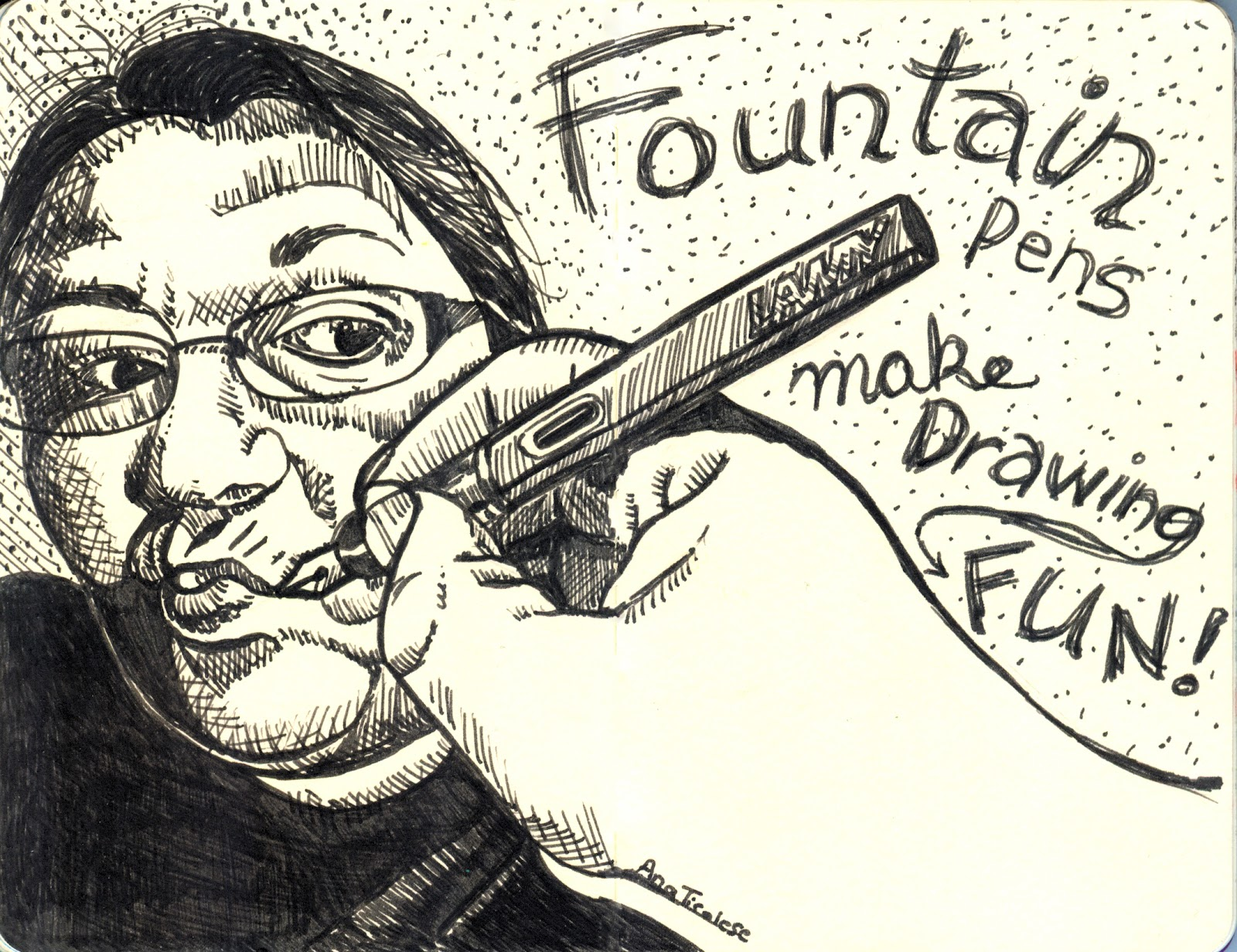 Ana S Strictly Sketchbook Fountain Pens Make Drawing Fun