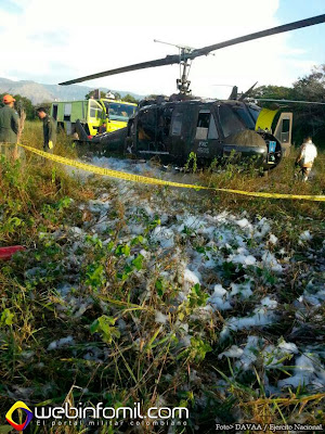 Accidente Helicoptero UH-1H Colombia FAC4505