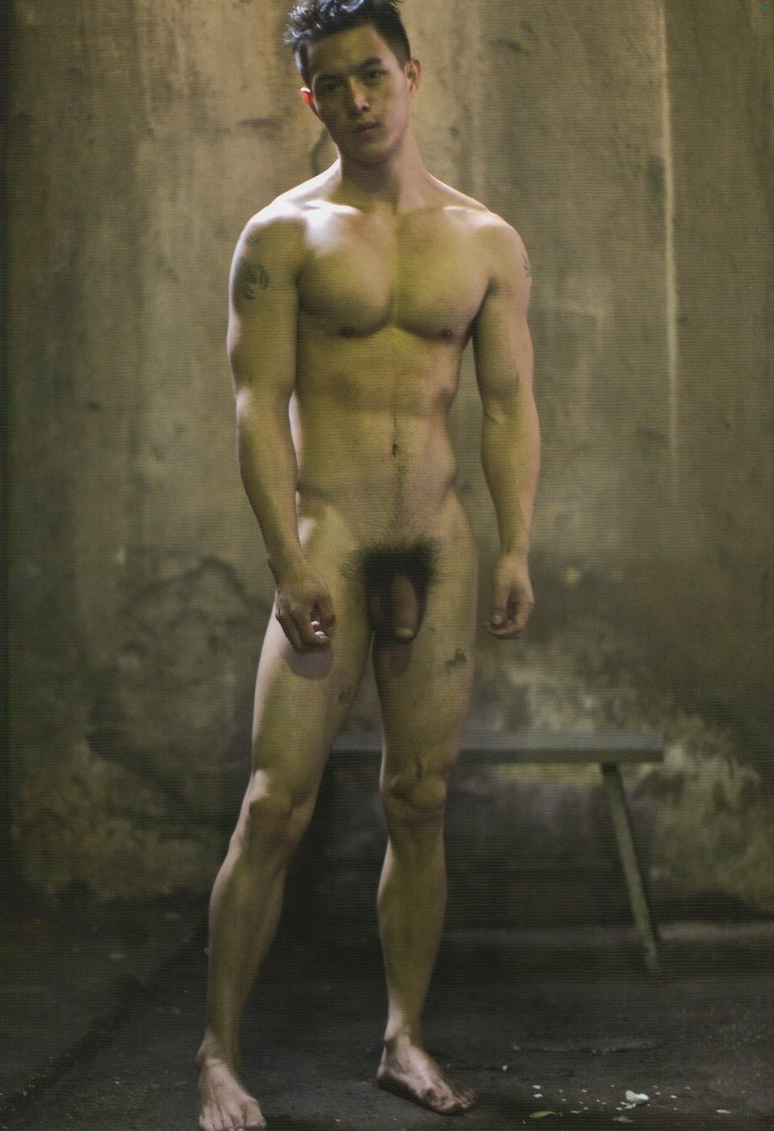 asian man all nude
