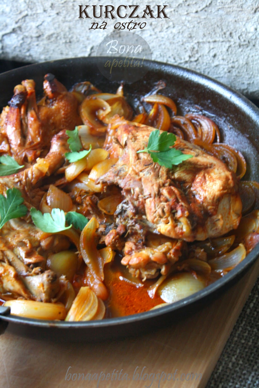 prosty obiad, kurczak na ostro, hot chicken