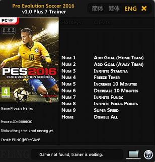 Kumpulan Cheat untuk PES 2016