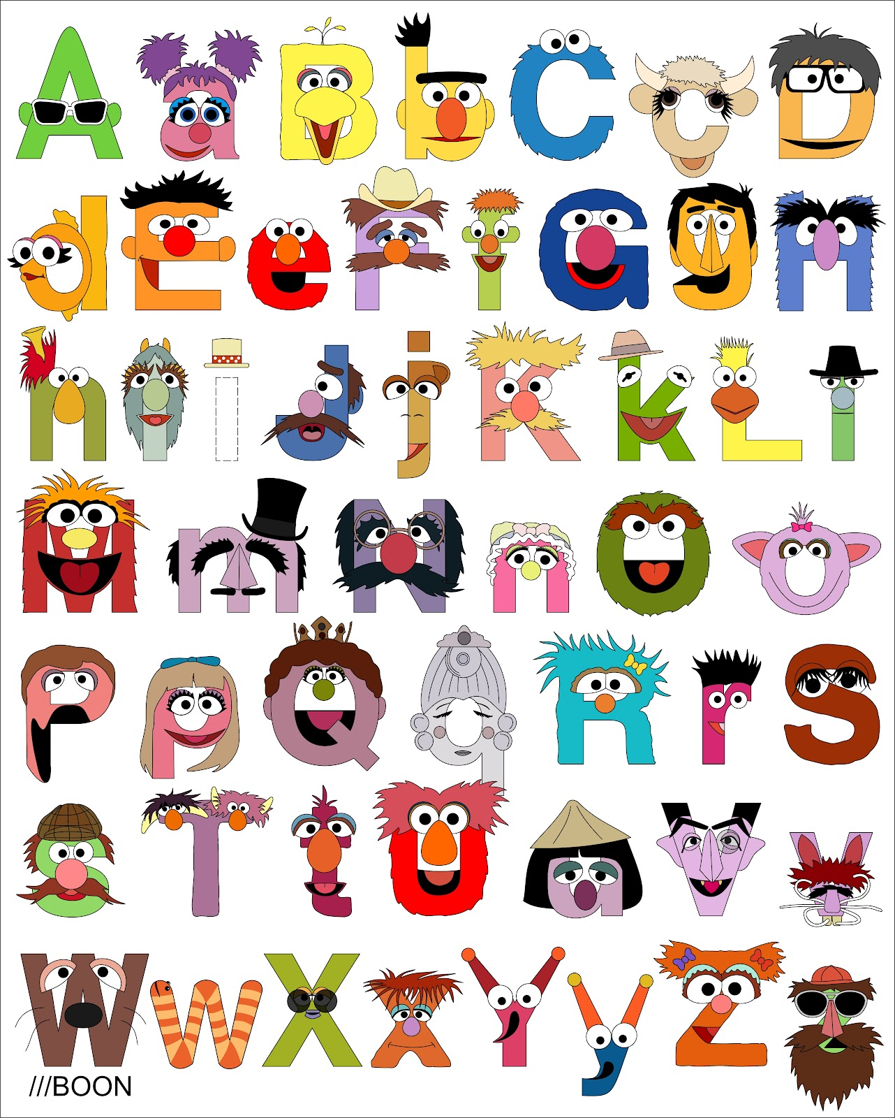 ... .blogspot.com/2012/02/sesame-street-alphabet.html for a key