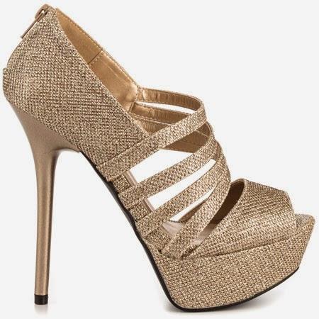 Zapatos de Tacon Alto, Dorados