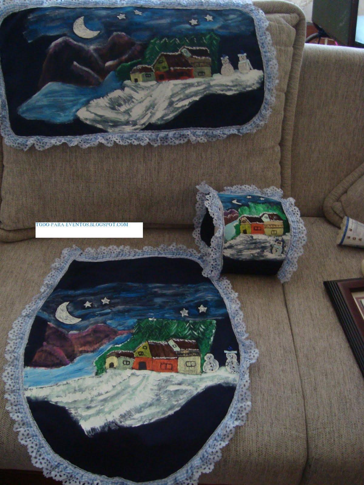 Juegos De Baño Hechos Con Fomi:Juego De Bano Para Navidad