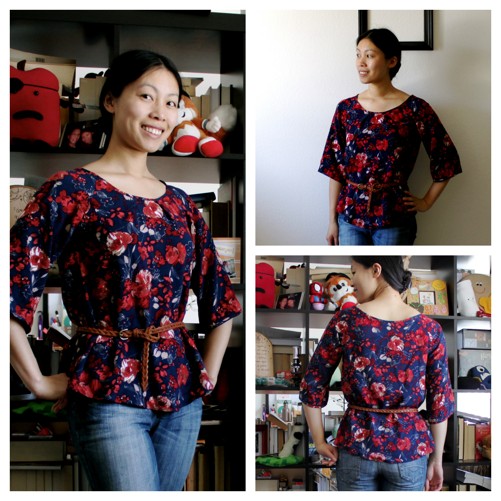 Free raglan sleeve swing top printable pattern belted