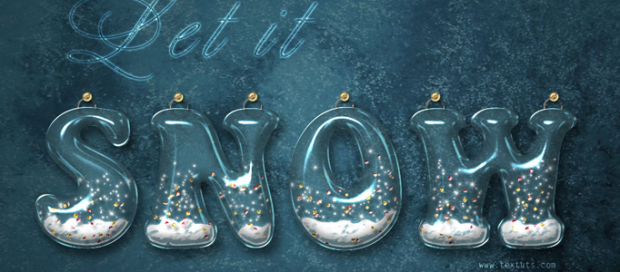 Photoshop 3D Snowing Typography