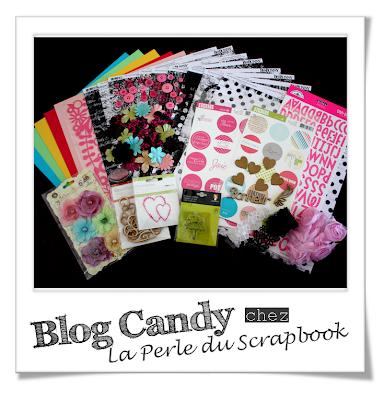 BLOG CANDY - La Perle Du Scrapbooking Blog+Candy