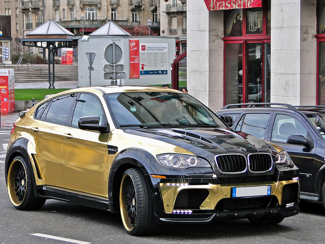 BMW X6 Gold painted Hamman Supreme Edition Evo M