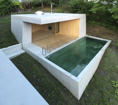 Best Swimming Pools Spas Designs Small Outdoor Concrete Pool Austria