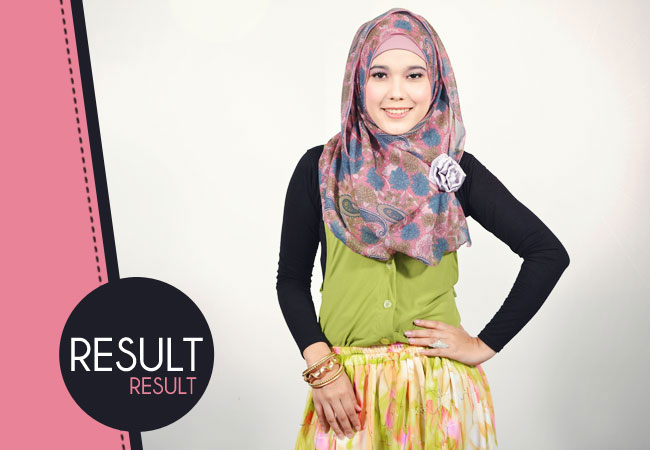 Tutorial Cara Hijab Pashmina Shifon Bunga