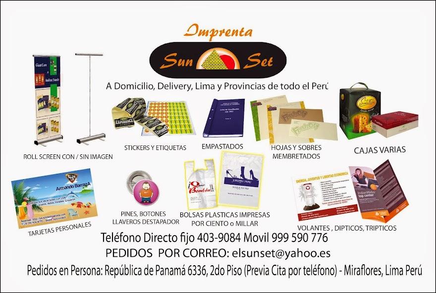 a Imprenta a domicilio , delivery todo Lima y provincias del Peru