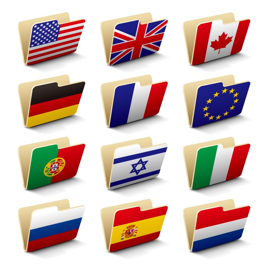 国旗デザインのフォルダ アイコン Vector Flag Folders イラスト素材2