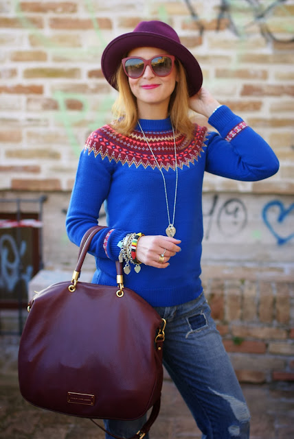 Asos sweater, fair isle jumper, Ecua-Andino hat, Fashion and Cookies, fashion blogger