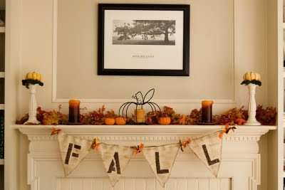 Eat sleep decorate fall decorating inspiration for Mantel display ideas