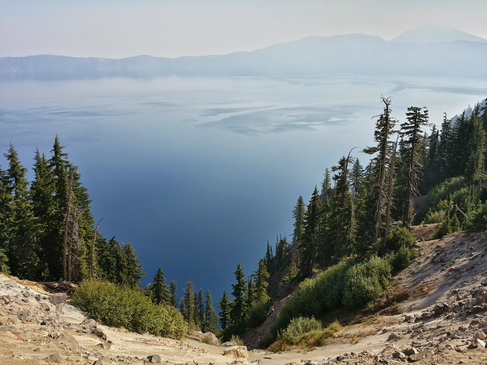 view of Crater Lake at Rim Village
