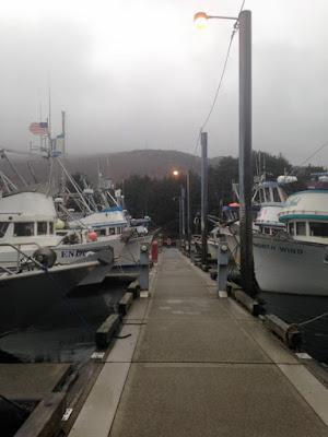 fishing boats in the St. Herman Harbor on Kodiak Island, Alaska