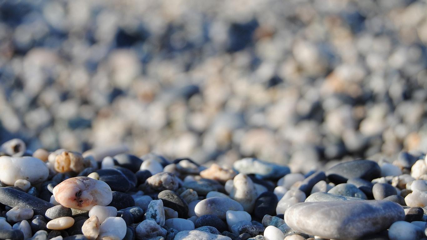 Gmail beach theme pictures - Beach Pebbles Wallpaper 1366x768