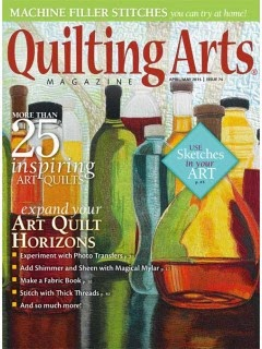 Breast Cancer awareness art in the April/May issue of Quilting Arts 2015
