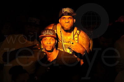 Miami Heat party at club story, Lebron and Bosh photo