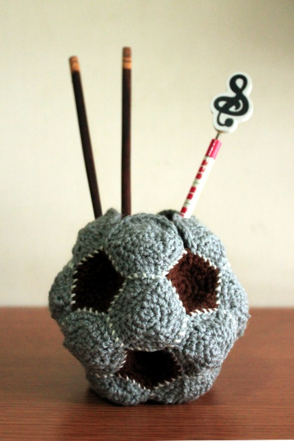 polygon soccer ball vase crochet fail