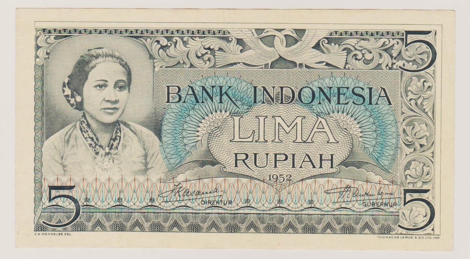 uang kuno seri kebudayaan tahun 1952