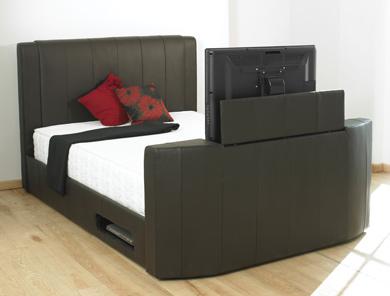 luxury bedding tv beds. Black Bedroom Furniture Sets. Home Design Ideas