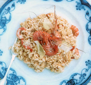 Risotto of Celtic Crab and prawns, an alternative starter for St David's day.