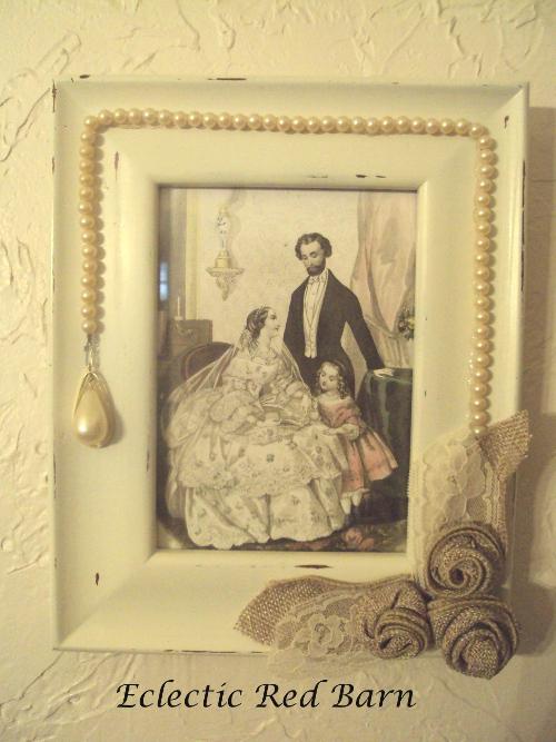 Pearl Framed Vintage Print