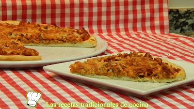 pizza masa fina y crujiente