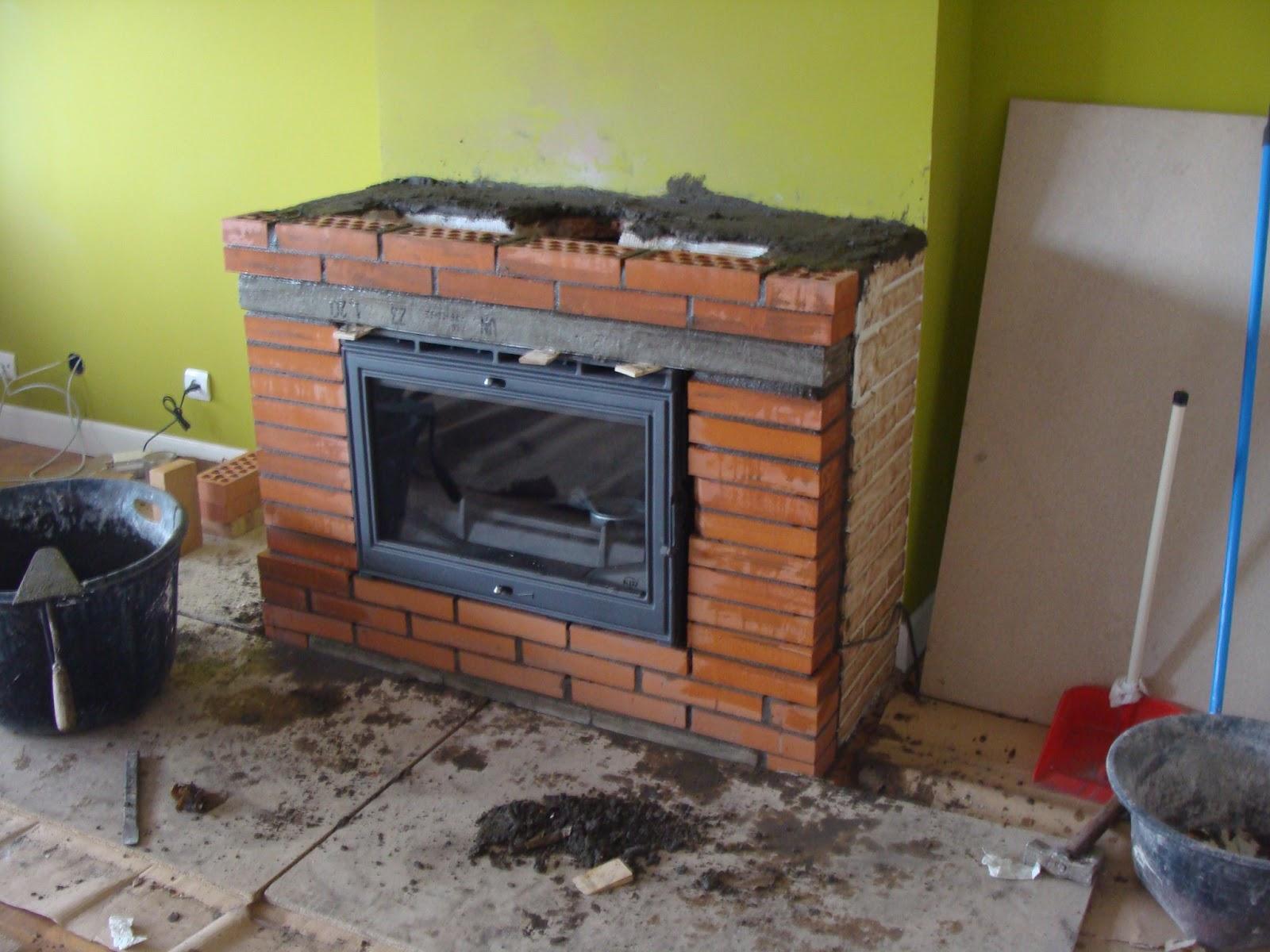 Andocarpinteando montaje de chimenea y reducci n de - Chimeneas de obra ...