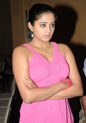 Priyamani Hot Cleavage in Pink Top at Function Photos