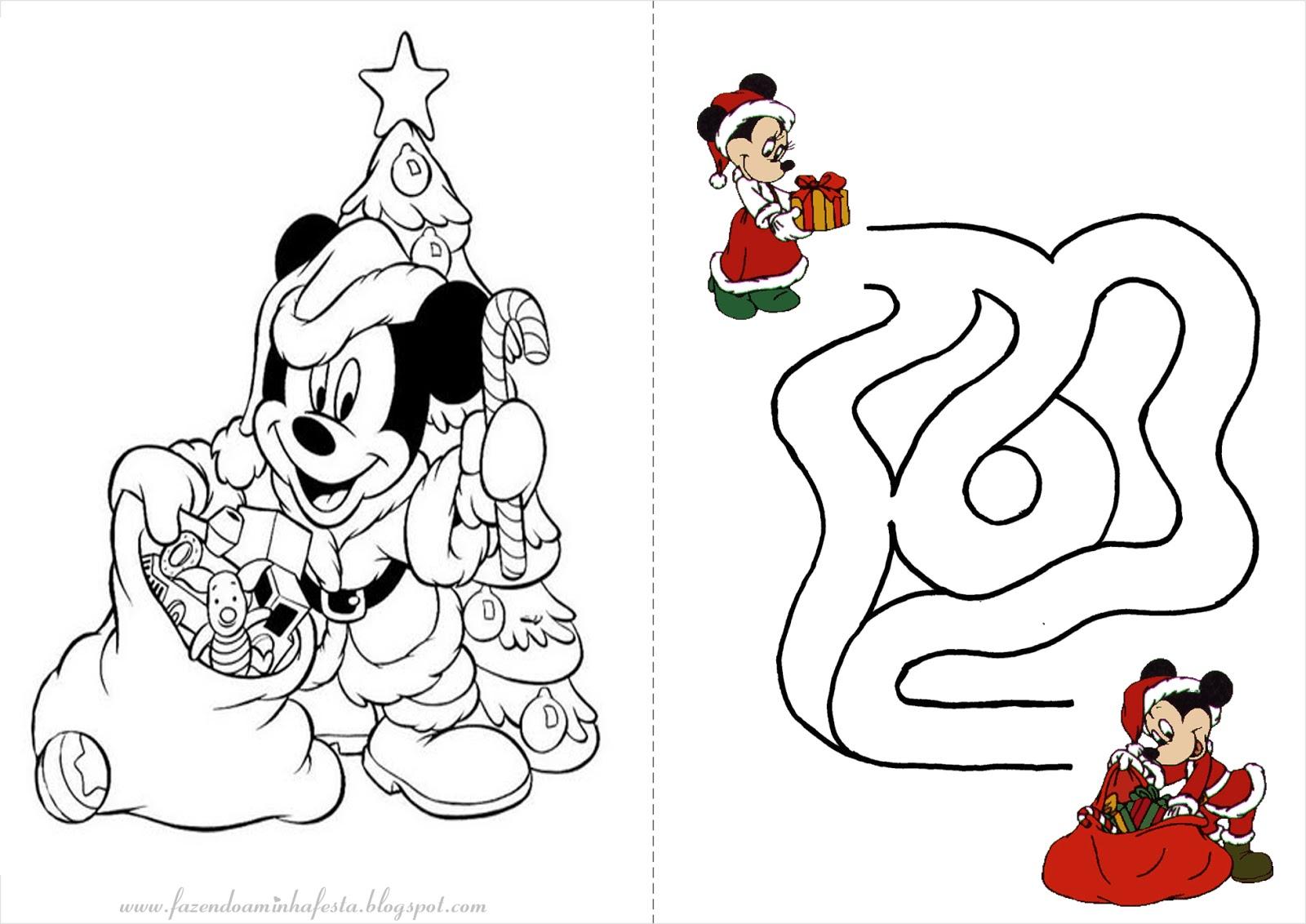fazendo a nossa festa colorir mickey e minnie natal livrinho de