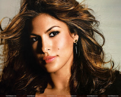 Hollywood Actress Eva Mendes Beautiful Wallpaper
