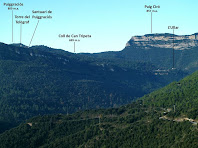 Els Cingles de Bertí i Montmany des del Bac de l'Antic
