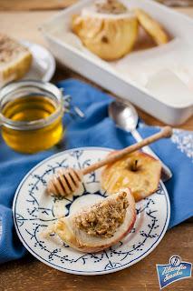 Pieczone jabłka z ricottą