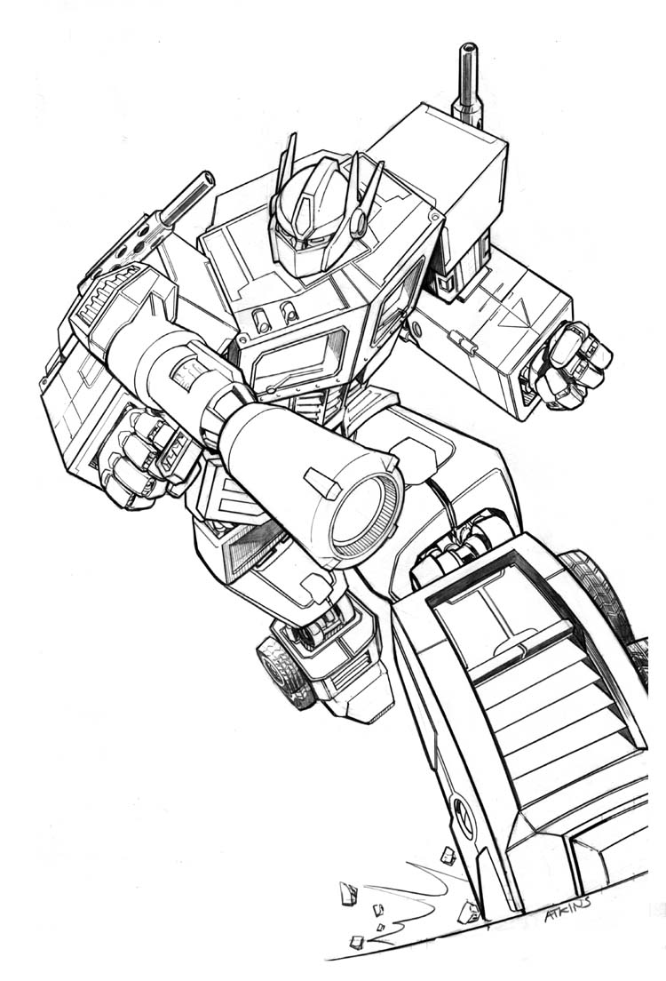 transformer gears coloring pages - photo#26