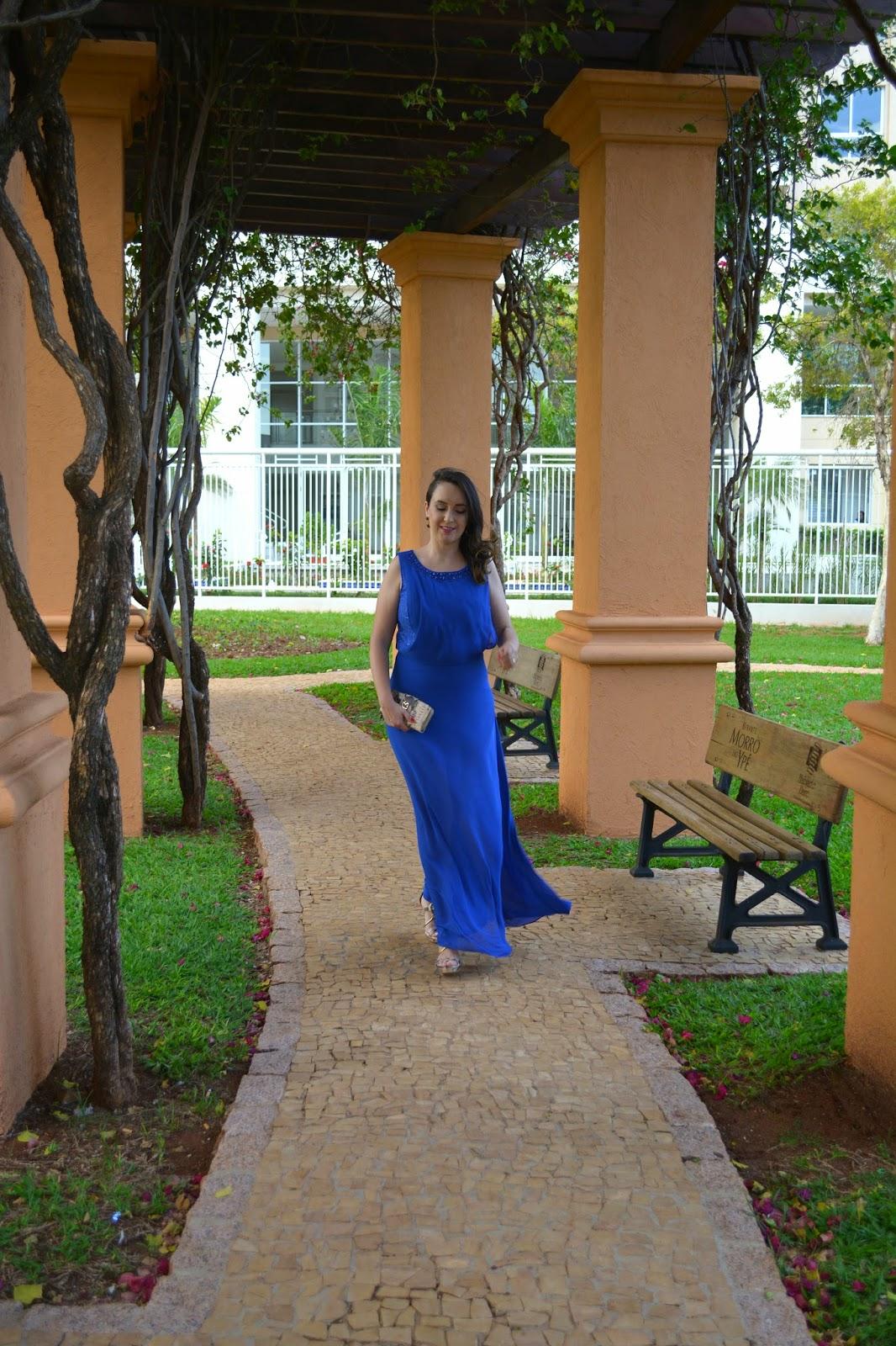 vestido para formatura, vestido longo azul, sandália de tiras, sandália para formatura, look do dia, carteira de mão, blog camila andrade, carmen steffens, blog de moda de ribeirão preto