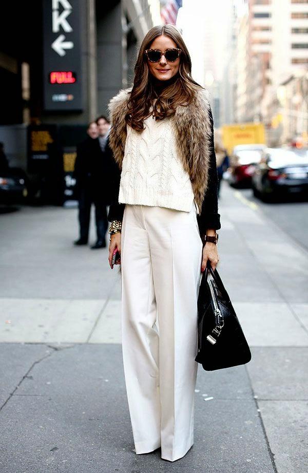 Tendência  moda cor branca no inverno