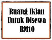 RUANG IKLAN UNTUK DISEWA