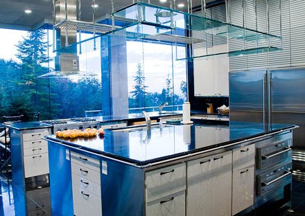 Modern Blue Kitchen Design