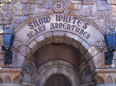 Snow White's Scary Adventures ride white Disneyland