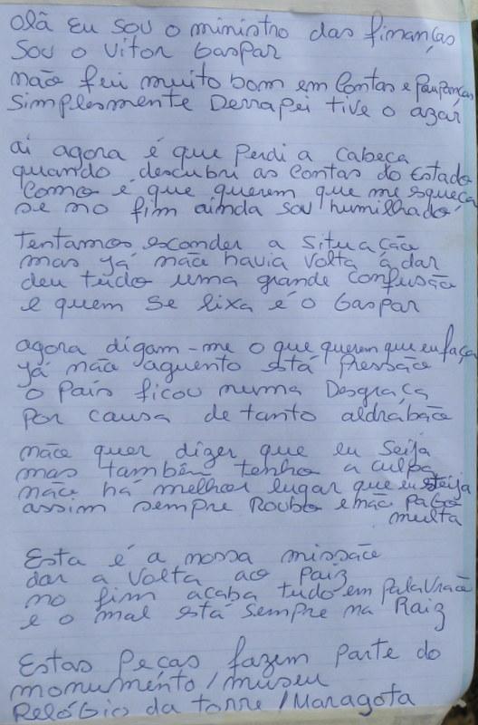Maios: poema satirico a Vitor Gaspar