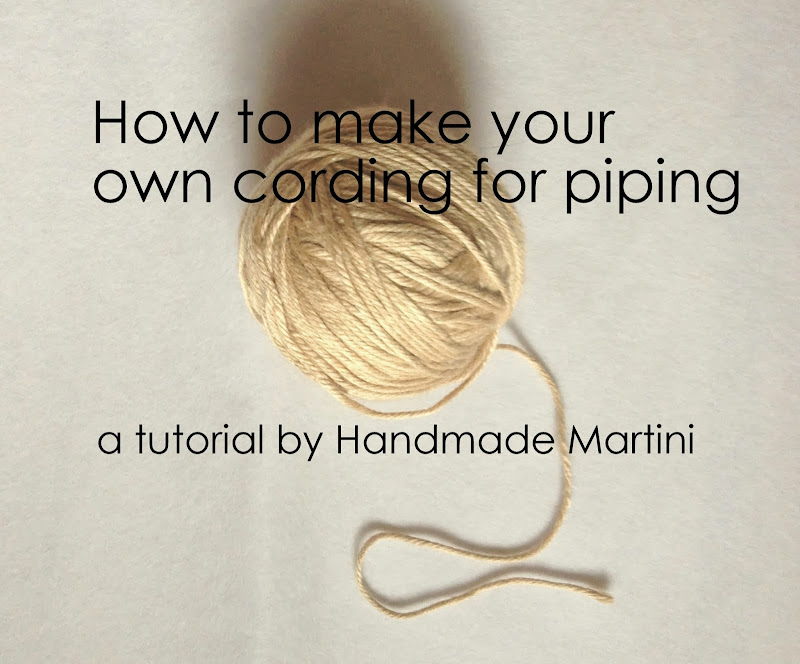 Handmade martini tutorial making your own cording for